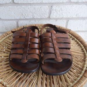 Vintage Italian Leather Gladiator Sandals
